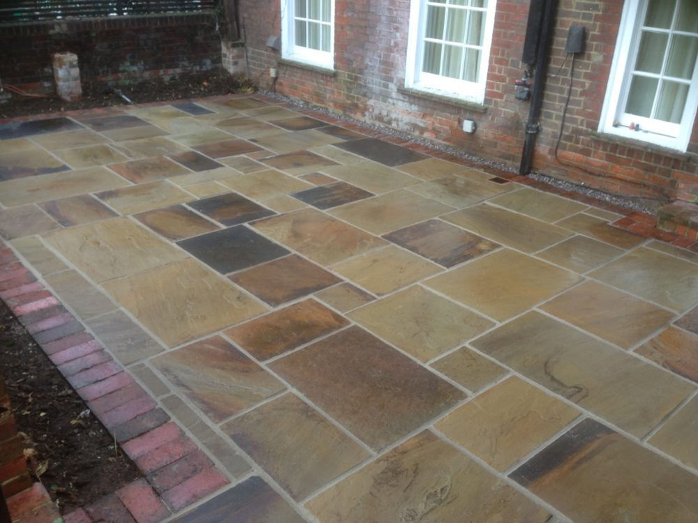 Sandstone and Block Paving